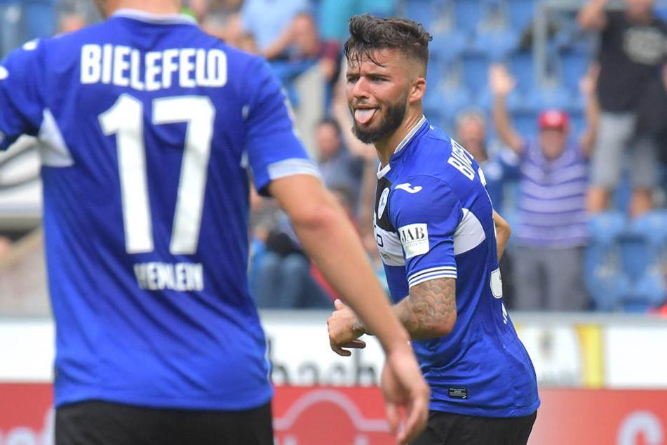 Das erste Bielefelder Tor der Saison 2017/18 gelang dem 20-Jährigen bereits beim Saisonauftakt.