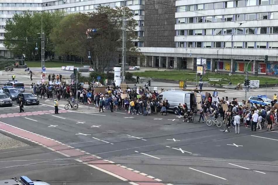 Am Freitag fand die Demo Fridays for Future in Chemnitz statt.