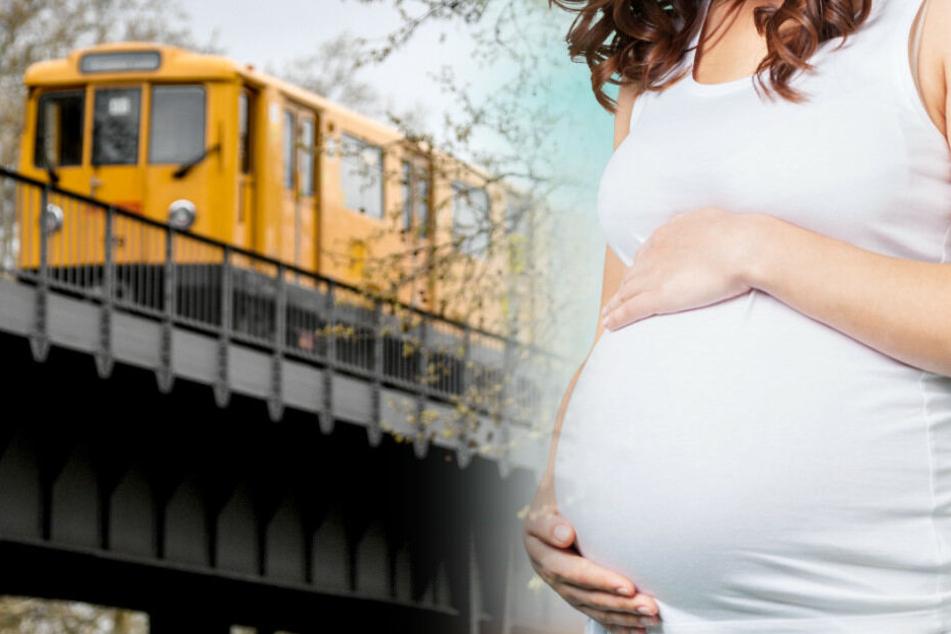 Eine hochschwangere Frau sorgte für einen ungeplanten Stopp. (Bildmontage)