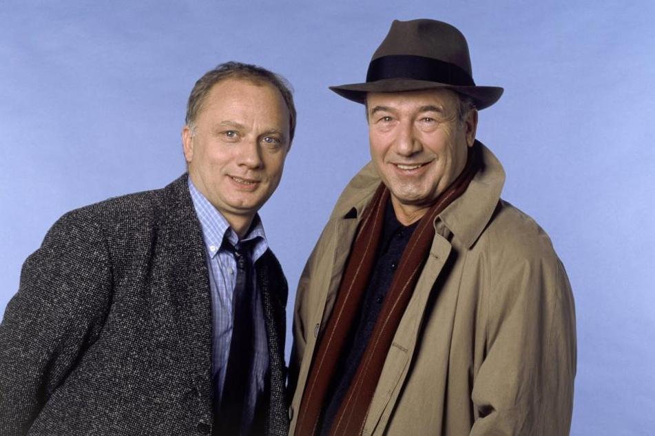 Dietz-Werner Steck (r.) in seiner Paraderolle als Kommissar Bienzle mit Kollege Günter Gächter (Rüdiger Wandel).