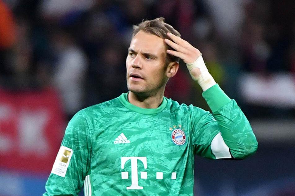 War über die Punkteteilung und vor allem die Entstehung des Ausgleichs gegen Leipzig nicht sonderlich amused: Manuel Neuer.