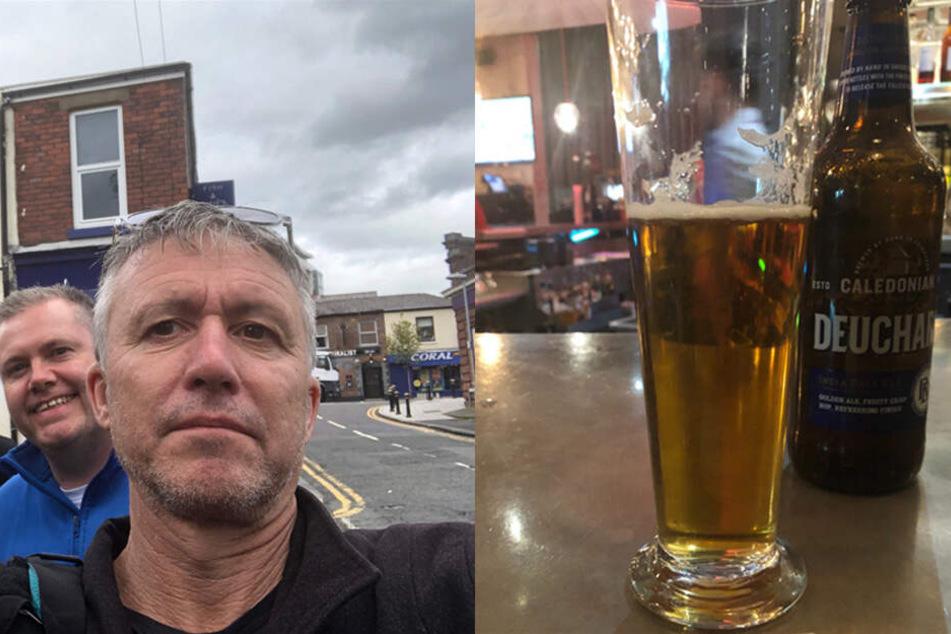 Weil der Barkeeper des Malmaison Hotels es mit der Abrechnung nicht so genau nahm, bezahlte Peter Lalor eine fünfstellige Summe für sein englisches Bier.