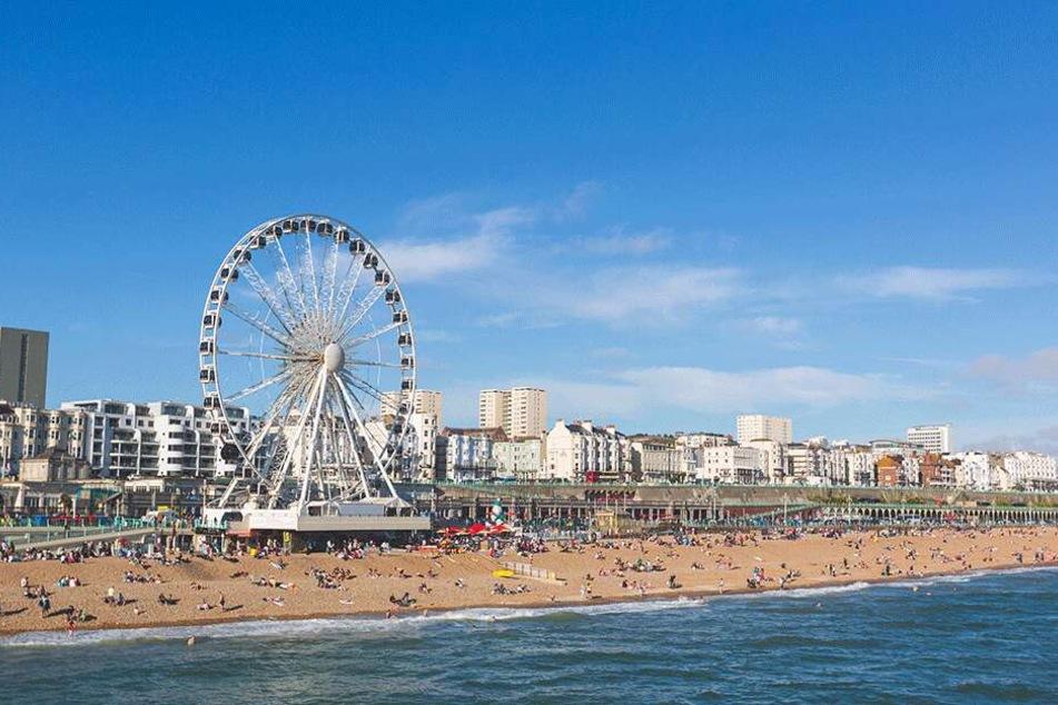 Der Diebstahl geschah in der britischen Küstenstadt Brighton südlich von London.