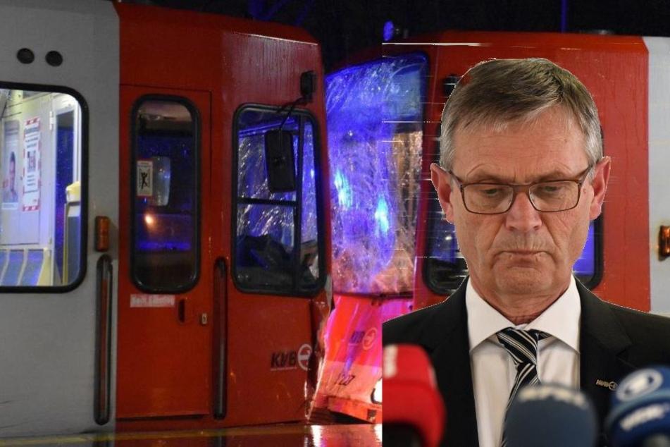 KVB-Chef Jürgen Fenske (62) hat noch keine Erklärung, wie es zu dem Unfall kommen konnte.