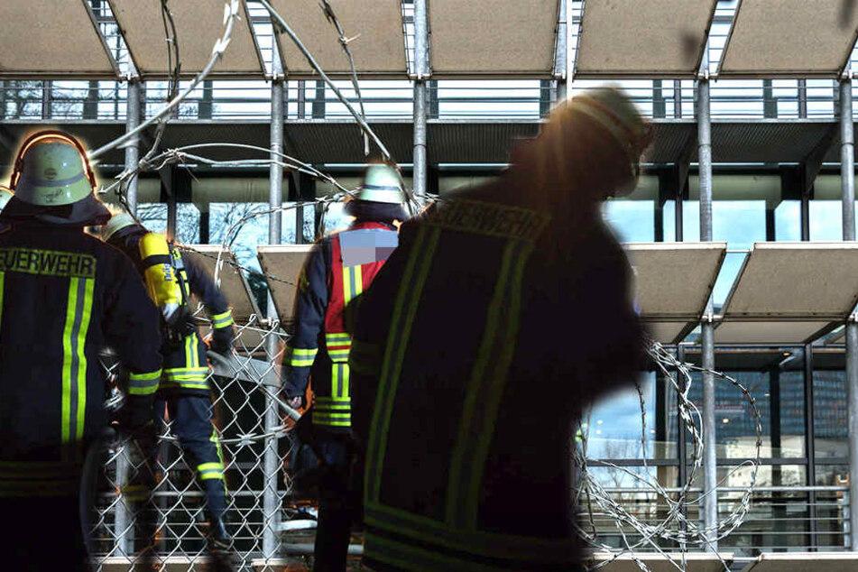 Betrunkener Bewohner legt Feuer in Asylheim
