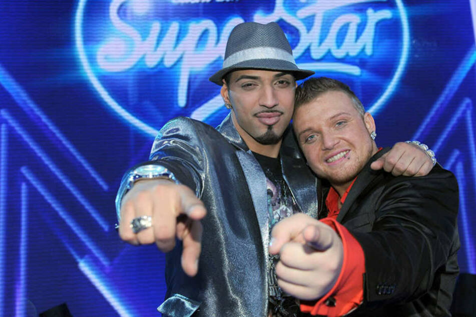"""Mehrzad Marashi und Menowin Fröhlich im Finale von """"Deutschland sucht den Superstar"""" 2010."""
