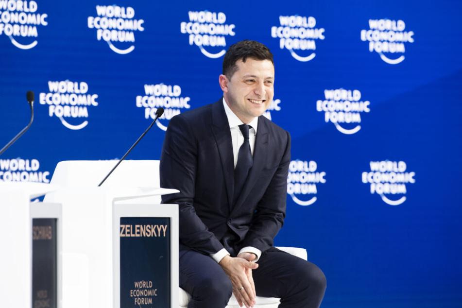 Wolodymyr Selenskyj (42) beim Weltwirtschaftsforums (WEF) in Davos. (Archivbild)
