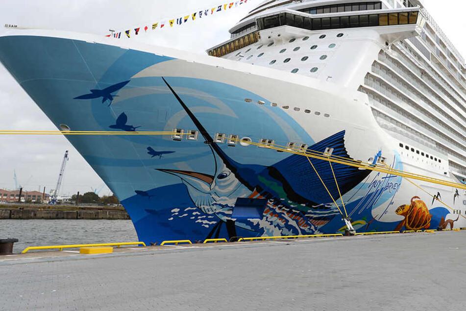 """Die """"Norwegian Escape"""" ist ein Kreuzfahrtschiff der Reederei Norwegian Cruise Line."""
