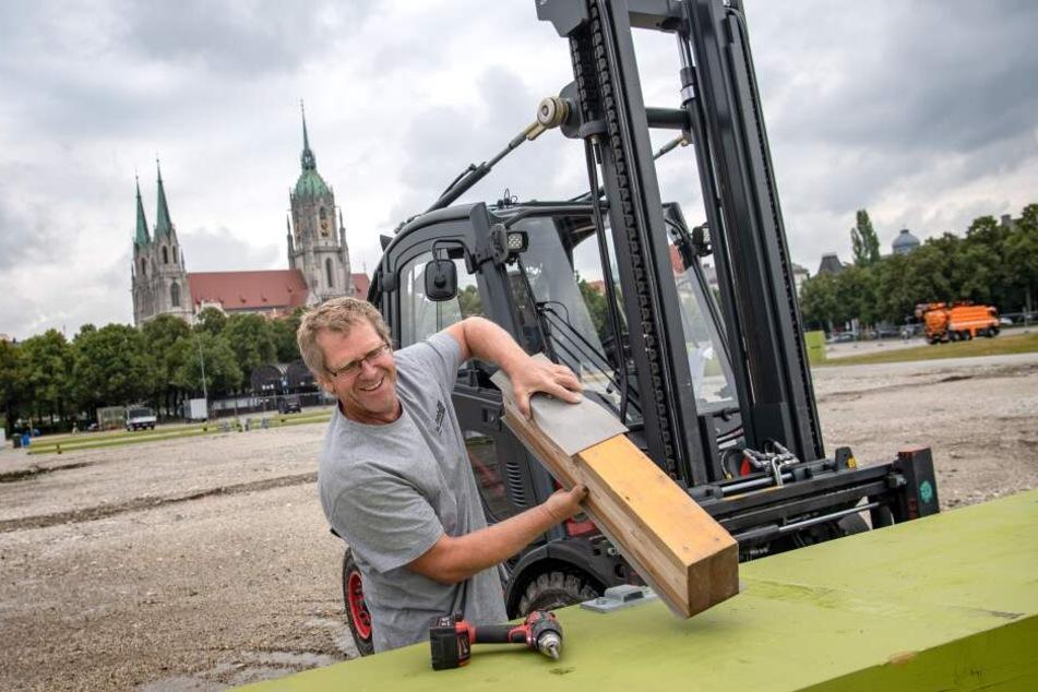 Theresienwiese wird zur riesigen Baustelle: Startschuss zur Wiesn