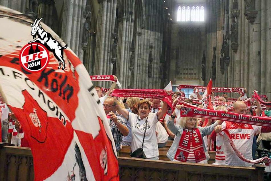 Gänsehaut pur: Tausende FC-Fans feiern Andacht im Kölner Dom