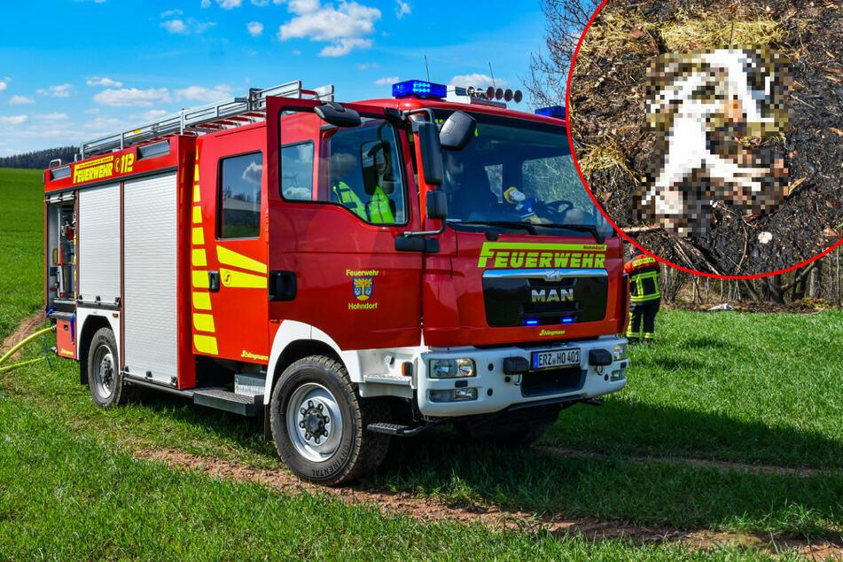 Horror-Fund nach Brand im Erzgebirge: Feuerwehr macht schreckliche Entdeckung
