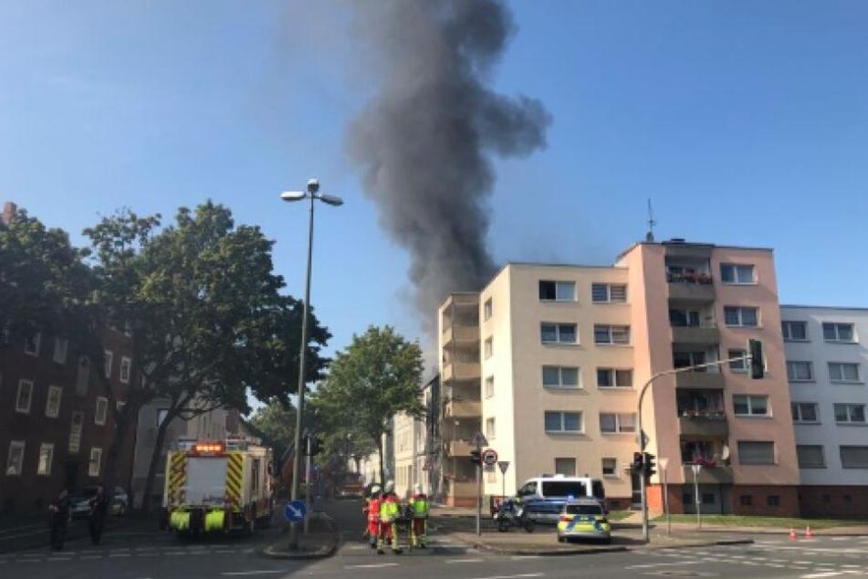 Sieben Kinder bei Feuer in Gelsenkirchen schwer verletzt, zwei Menschen in Lebensgefahr!