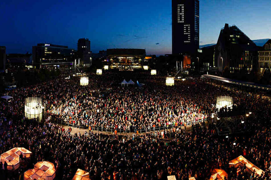"""In diesem Jahr steht das Lichtfest in Leipzig unter dem Motto """"Aufbruch - Verantwortung - Offenheit"""". (Archivbild)"""