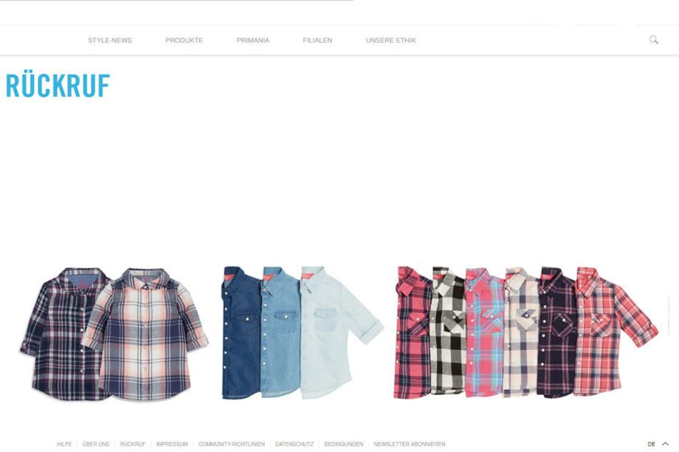Diese Kleidungsstücke werden von Primark zurückgerufen.