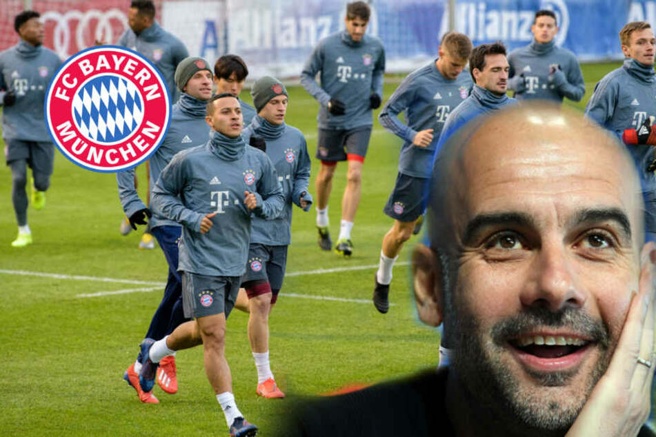 Wenn Pep die Daumen drückt, kann der FC Bayern nur gewinnen