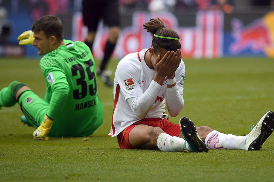 Zum Vergessen: RB Leipzig vergab gegen Ingolstadt durch viele Fehler und die Abschlussschwäche den direkten Einzug in die Königsklasse.