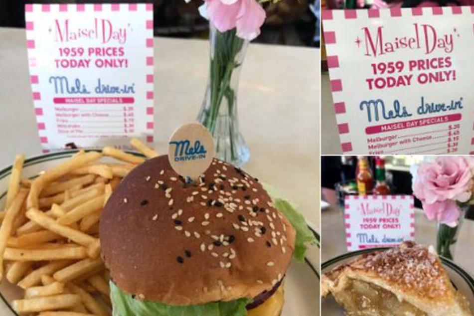 Auch Burger waren plötzlich so günstig wie vor 60 Jahren.