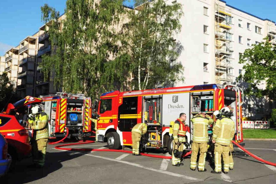 Bei einem Brand in einem Mietshaus im Dresdner Stadtteil Prohlis sind am Dienstagmorgen zwei Frauen verletzt worden.