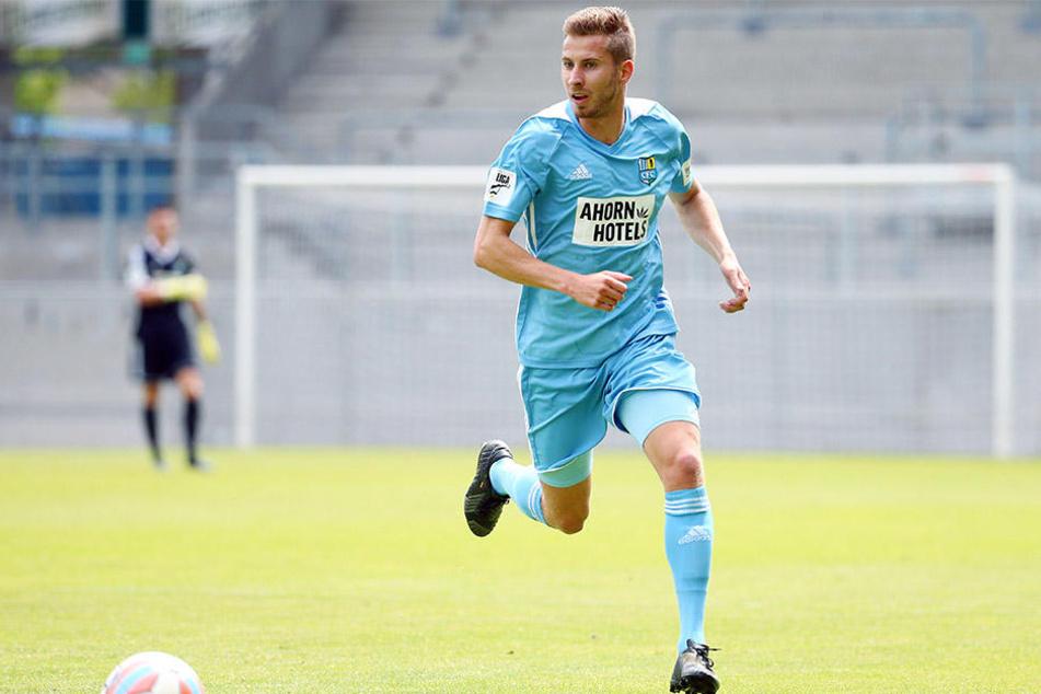 Von Hertha II. gekommen: Marcus Mlynikowski freut sich auf die neue Herausforderung bei den Himmelblauen in Chemnitz.