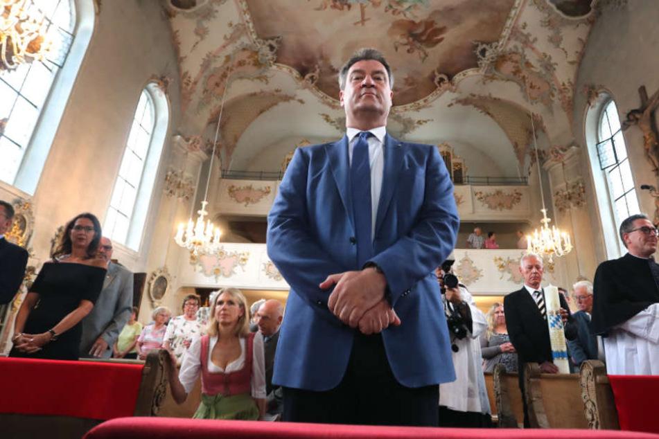 Auch aus den Reihen der Kirchen wurde Markus Söder bereits eine Instrumentalisierung des Glaubens vorgeworfen.
