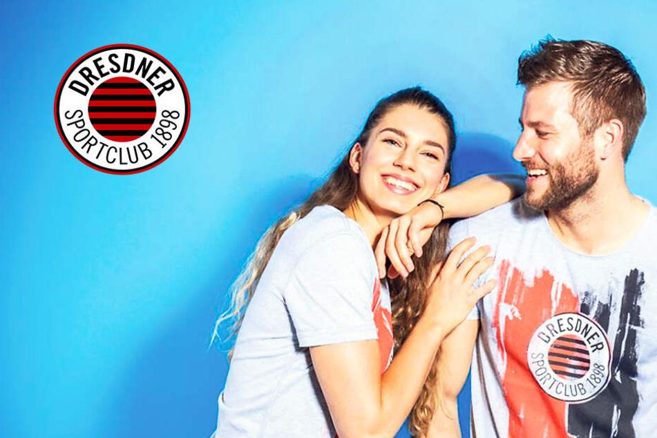 Verliebt! DSC-Spielerin Radosova und Reuter zeigen brandneue Fanshirts
