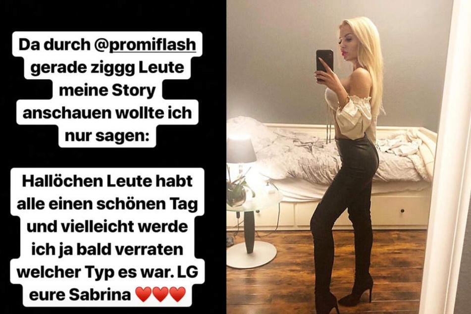 Die Montage zeigt zwei Screenshots aus dem Instagram-Profil von Sabrina alias Sabi.