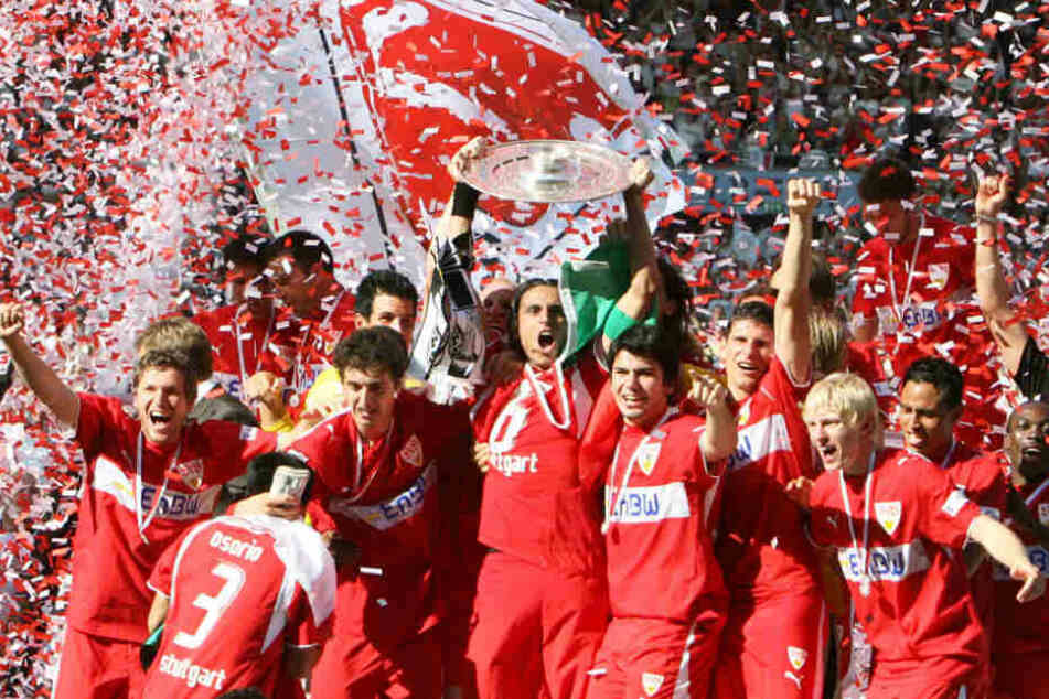 Der VfB Stuttgart feiert im Jahr 2007 die Deutsche Meisterschaft.