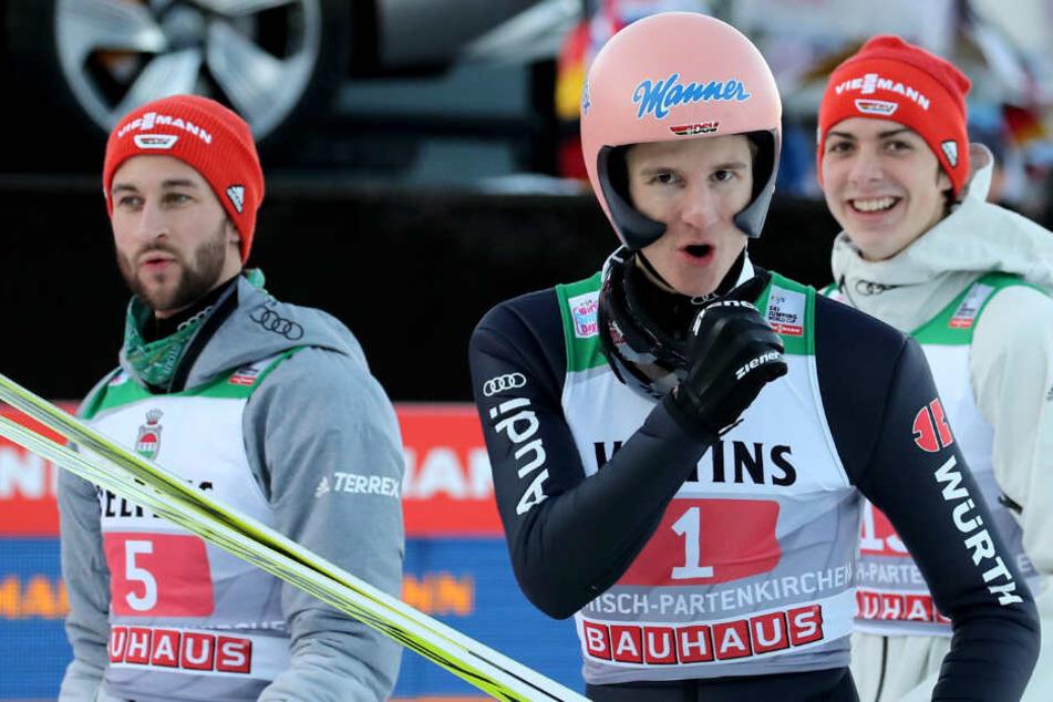 Vierschanzentournee: DSV-Adler Geiger fliegt auf Platz 2, Lindvik stellt Rekord ein