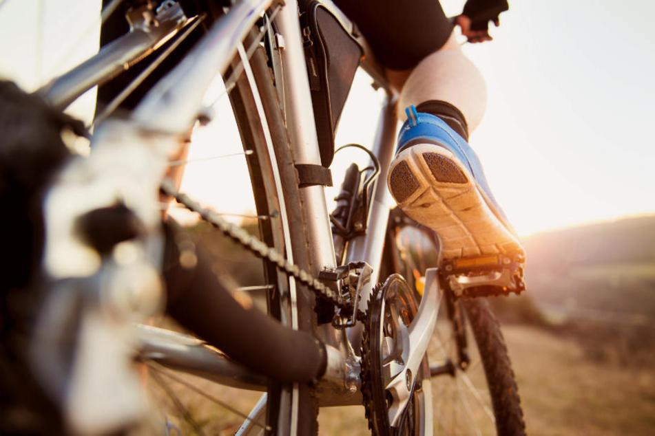 Mit seinem Fahrrad wollte der Mann einfach auf die Autobahn flüchten. (Symbolbild)