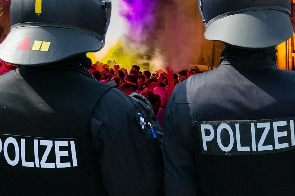 Nach dem Ende des Festivals rückte die Polizei mit einem Großaufgebot an (Symbolbild).