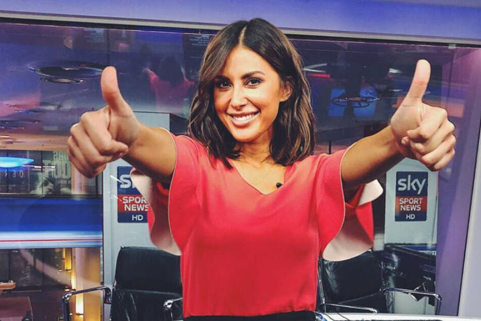 "Jana Azizi ist Moderatorin bei ""Sky Sport News HD""."
