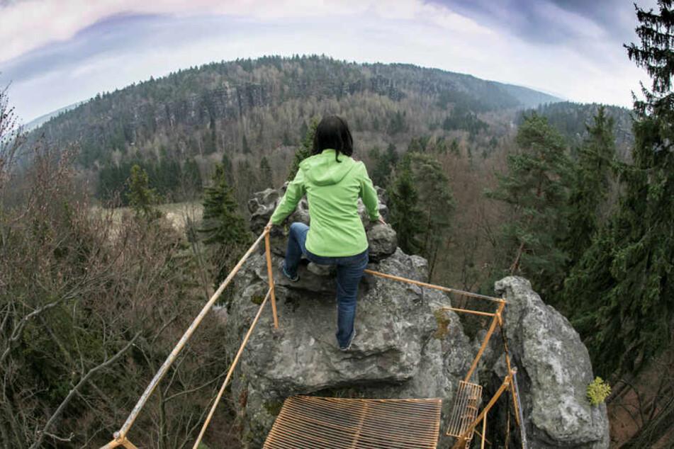 Der Forststeig verbindet eine Reihe schon bestehender Aussichtspunkte in Sachsen und Tschechien.