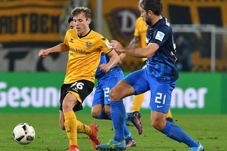 Senkrechtstarter der Saison: Niklas Hauptmann (li.)