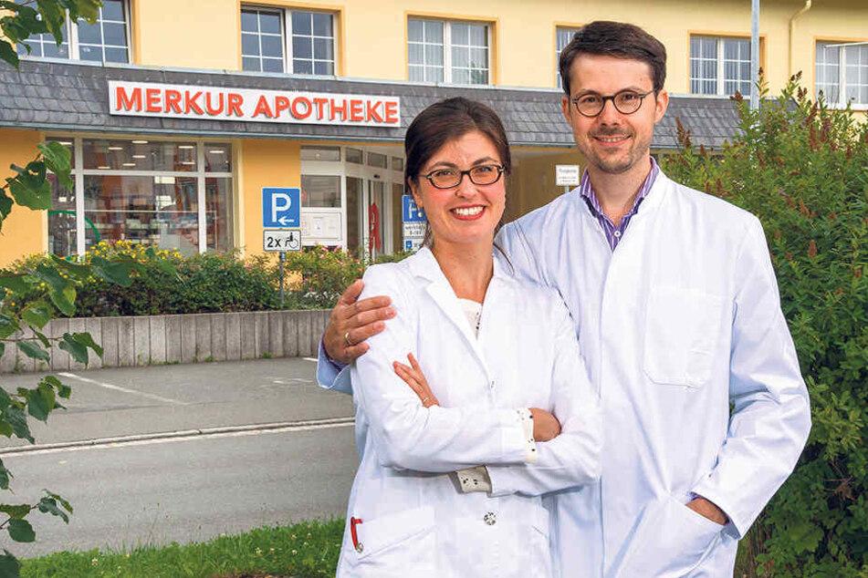 Glücklich in der Heimat: Das Apotheker-Ehepaar Annekatrin (34) und Andreas Schädlich (37).
