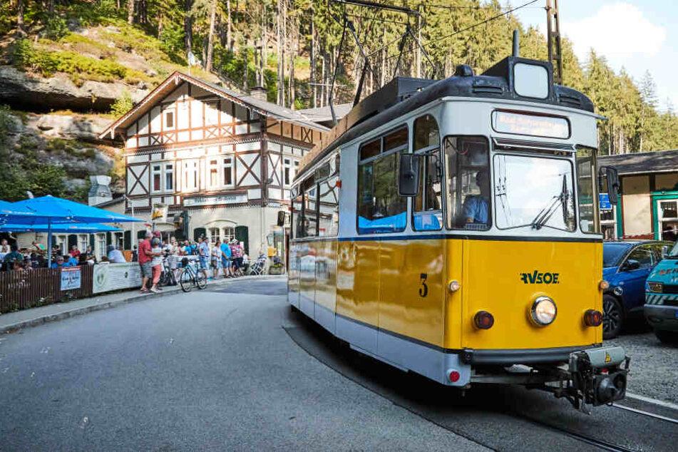 Ein echter Touristenliebling der Sächsischen Schweiz: Die Kirnitzschtalbahn könnte schon bald über die Elbe pendeln.