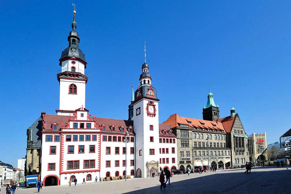 Das Rathaus in Chemnitz.