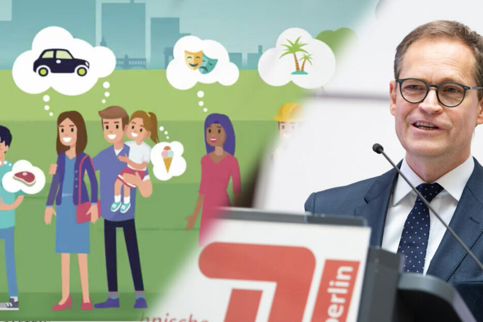 Links ein Screenshot aus dem neuen SPD Video, rechts Berlins regierender Bürgermeister Michael Müller. (Bildcollage)