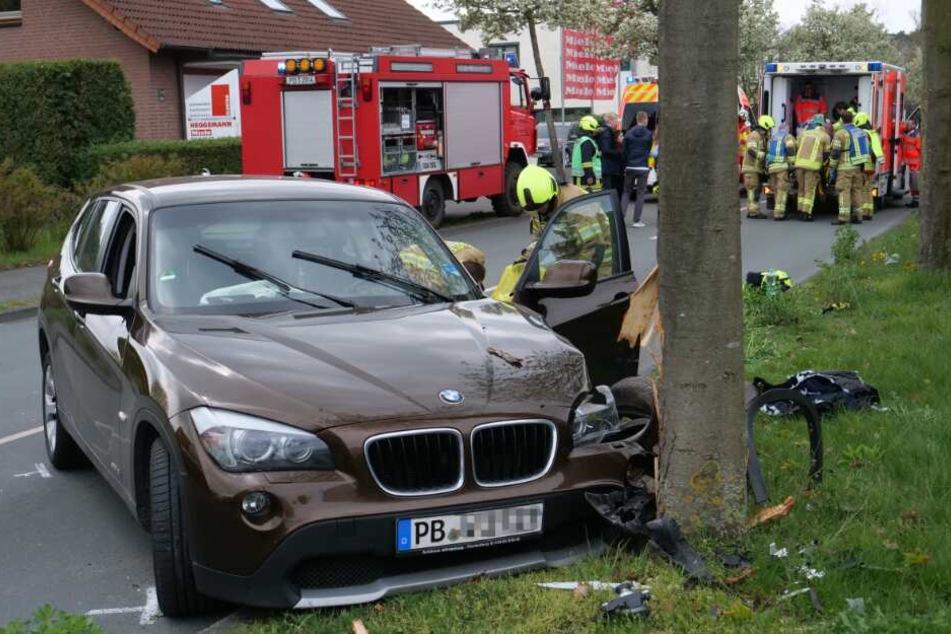 Ein Notarzt kämpfte um das Leben des Unfall-Fahrers.