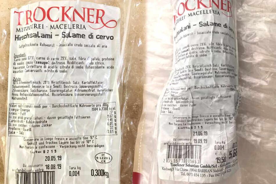 Eine Rückgabe der betreffenden Salami-Sorte ist möglich-
