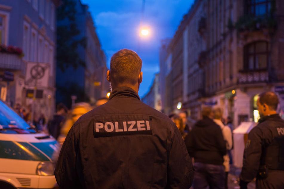 Auch in der Dresdner Neustadt war die Polizei im Einsatz.