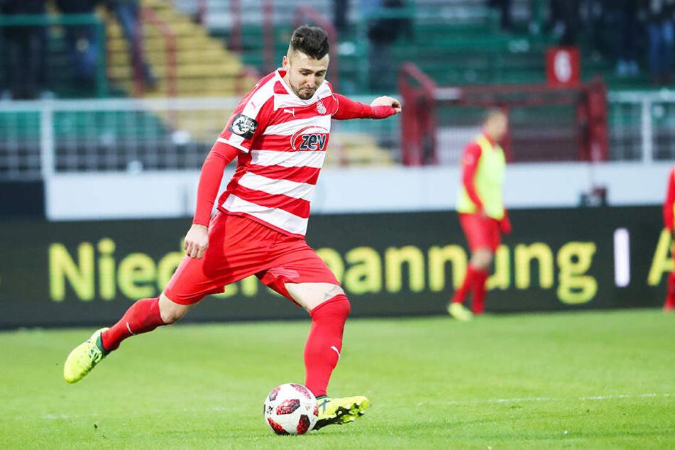 Davy Frick ärgerte sich über die Art und Weise der Niederlage beim FC Hansa Rostock.