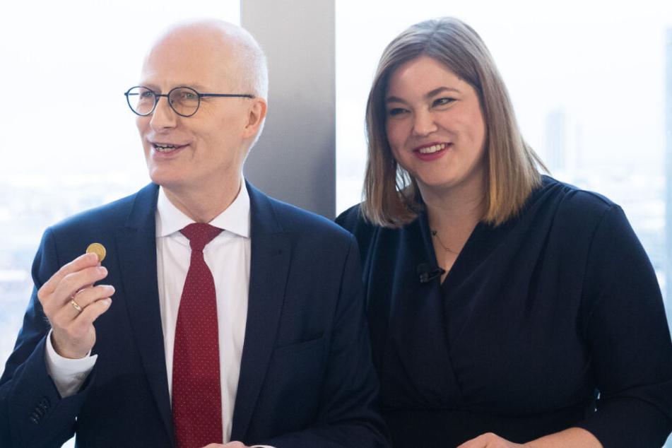 Bürgermeister Peter Tschentscher (SPD) und Katharina Fegebank (Grüne) gelten als aussichtsreichste Kandidaten.