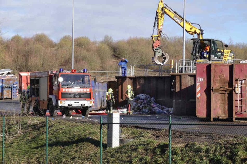 Feuerwehreinsatz: Brand in Mülldeponie