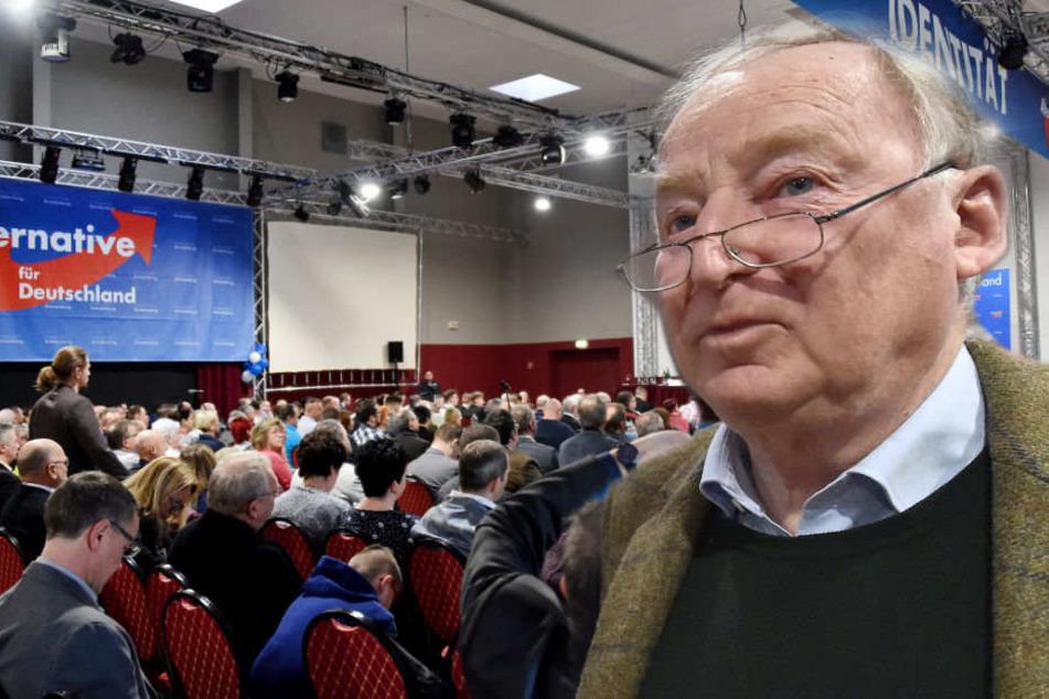Alexander Gauland auf der Mitgliederversammlung der Brandenburger AfD. (Bildmontage)