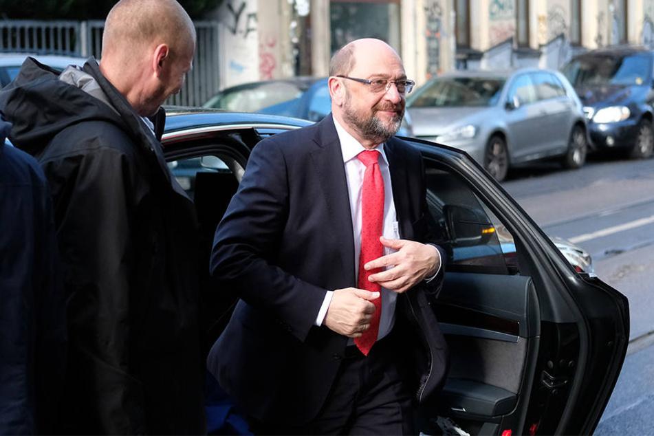 SPD-Mitglieder reden mit Schulz in Leipzig über Wahldebakel