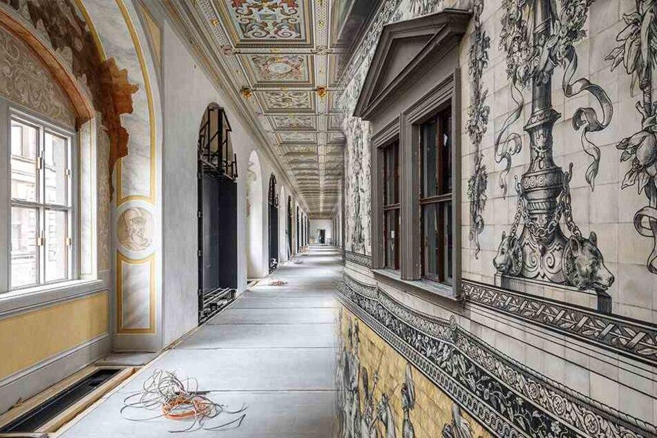 Die andere Seite des Fürstenzugs: So schön wird die Schlossgalerie