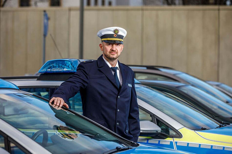 Polizeirat Gerald Baier (41) leitet die Dresdner Verkehrspolizei.