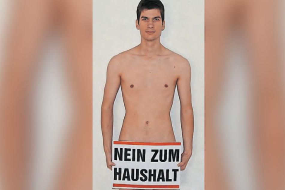 Nackt im Amtsblatt: Stadtrat Julien Ferrat.