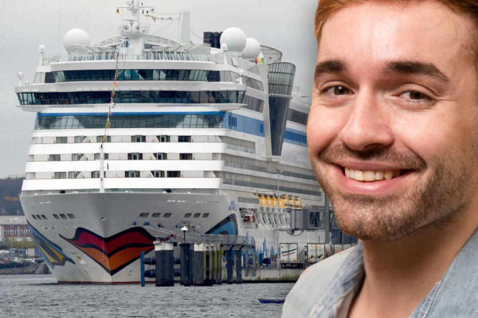 """Mit der """"AIDAluna"""" war Daniel Kaiser-Küblböck als Urlaubsgast auf dem Weg nach New York. (Bildmontage)"""