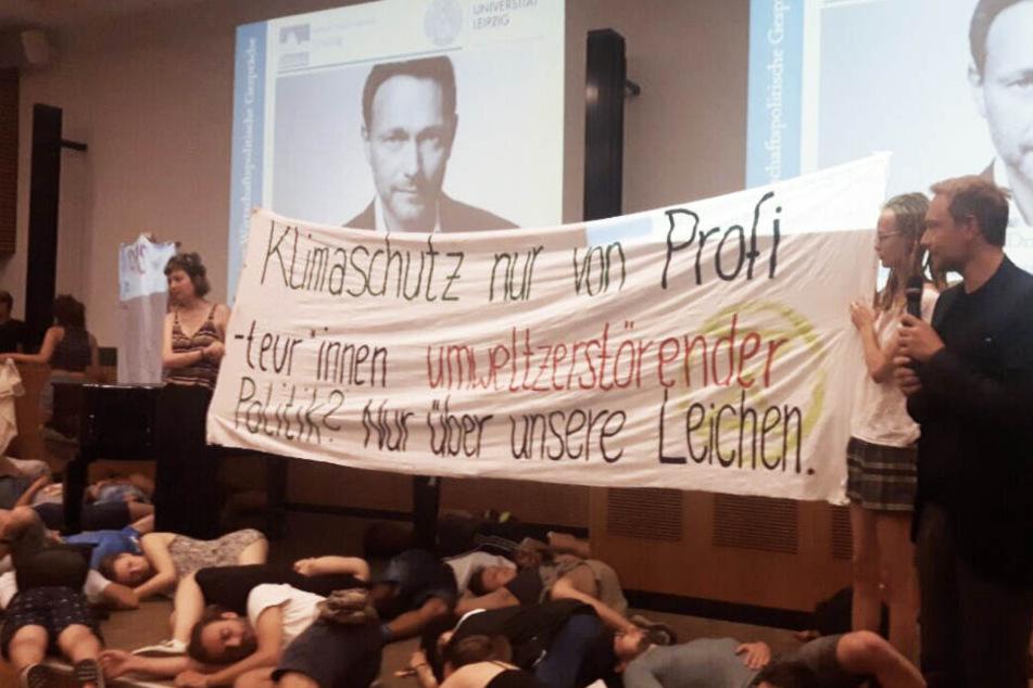 Christian Lindner antwortete auf den Protest spontan mit dem Zitat eines Philosophen.